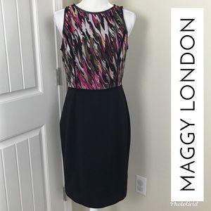 Maggy London Sheath Sleeveless Dress Sz 10